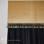 Pelmet with tassel fringe trim