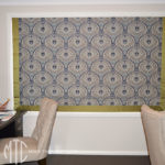 Roman blind with contrast border