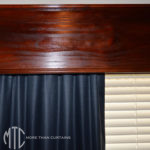 Stained Timber Pelmet