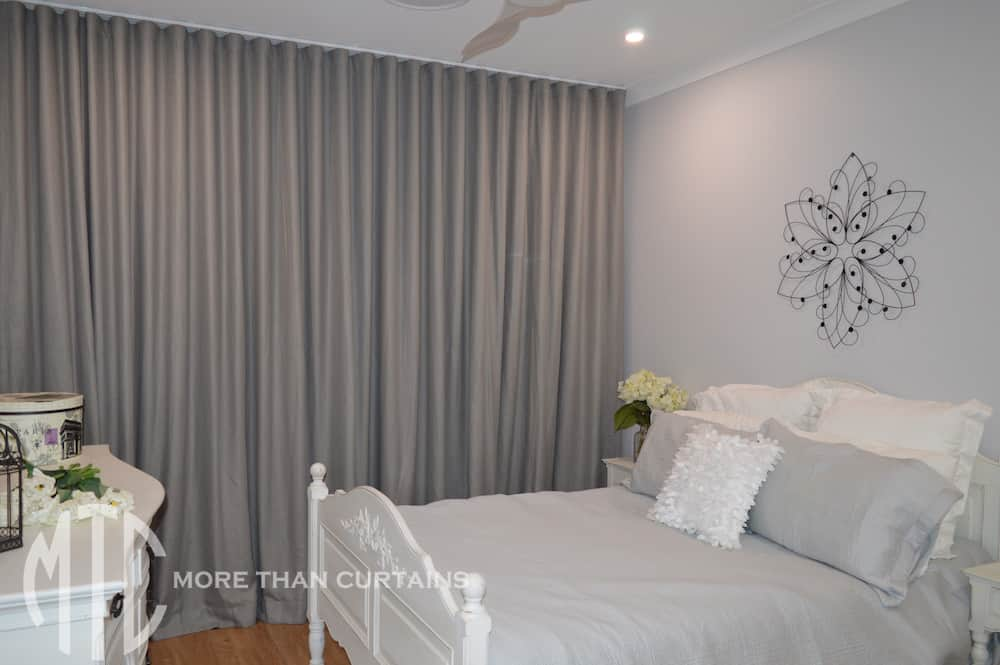 Grey s-fold curtains - Jordan Springs