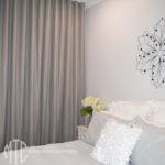 Grey s-fold curtains - Jordan Springs
