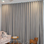 Grey s-fold curtains nursery - Jordan Springs