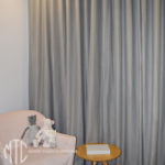 Grey s-fold curtains nursery - Jordan Springs