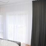 Grey & white s-fold curtains blockout and sheer - Jordan Springs