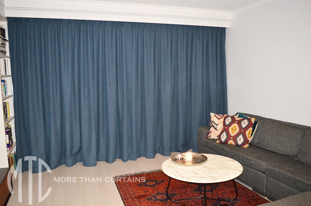 Pinch pleat blockout curtains