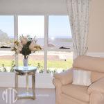 Floral curtains with velvet pelmet & tiebacks - Pitt Town 4