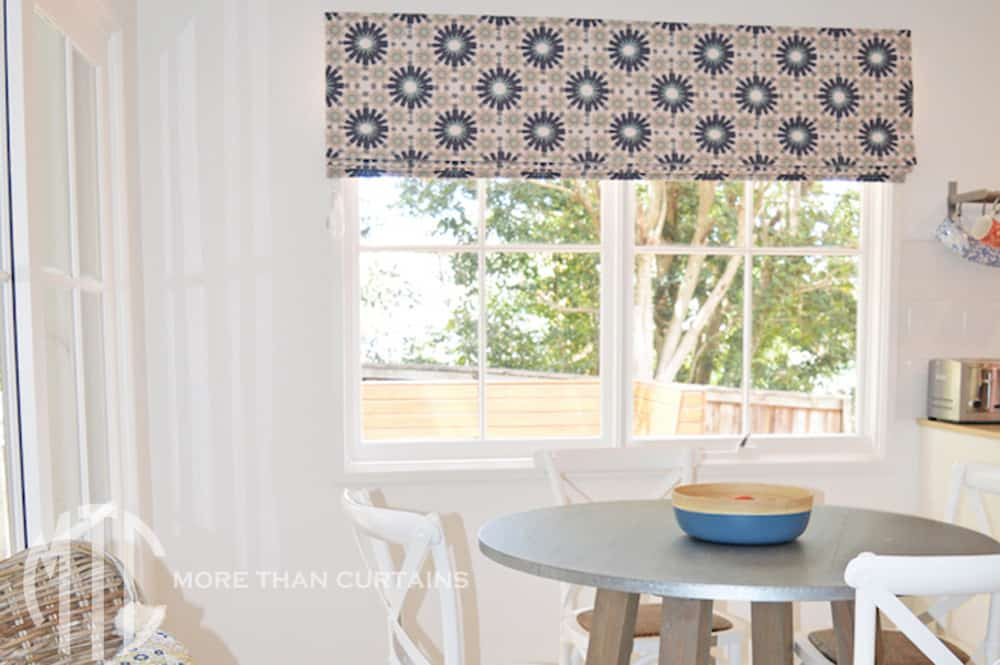 Patterned Roman blind