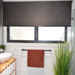 Charcoal textured roller blind