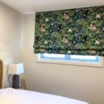 Green jungle pattern Roman blind