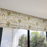 Kids woodland print Roman blind
