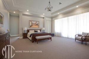 Sheer curtains & box pleated valance