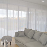 S-fold white sheer curtains