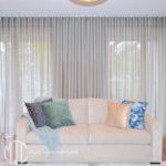 Silver s-fold sheer curtain