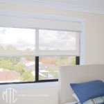 Double ivory roller blinds