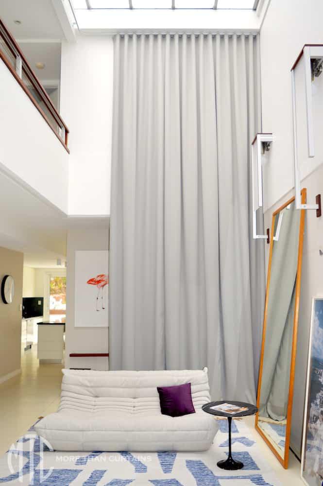 Double storey s-fold atrium curtain