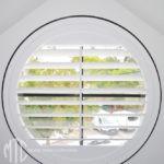 Round painted timber plantation shutters - Naremburn 1