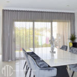 Charcoal s-fold sheer curtains