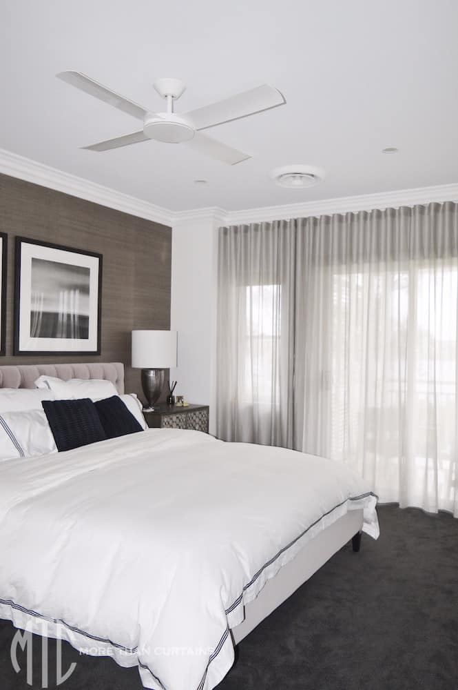 Silver s-fold sheer curtains