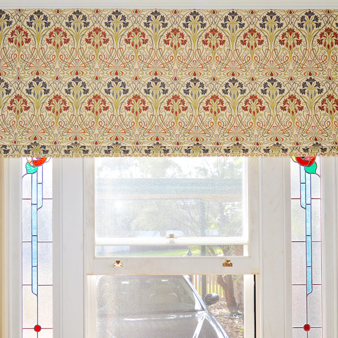 Art Deco Roman blind - Willoughby 2