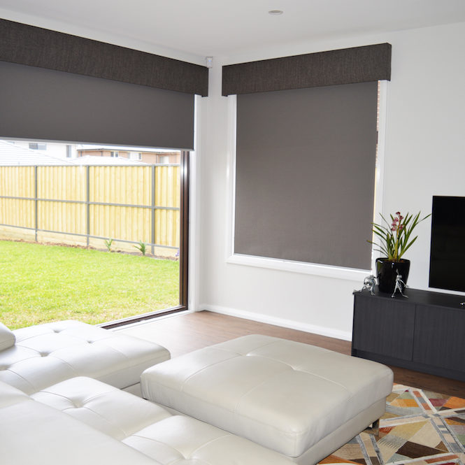 Blockout roller blinds with pelmets - North Kellyville