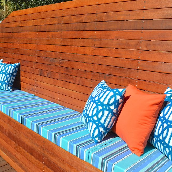 Outdoor cushions & banquette seat