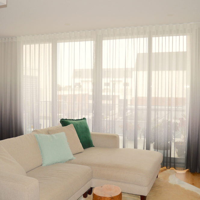 Ombre s-fold sheer curtains
