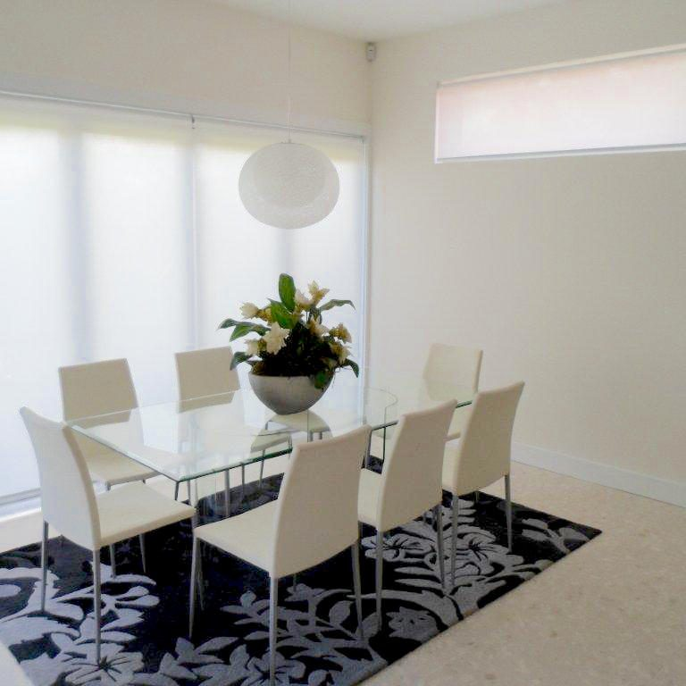 White translucent roller blinds
