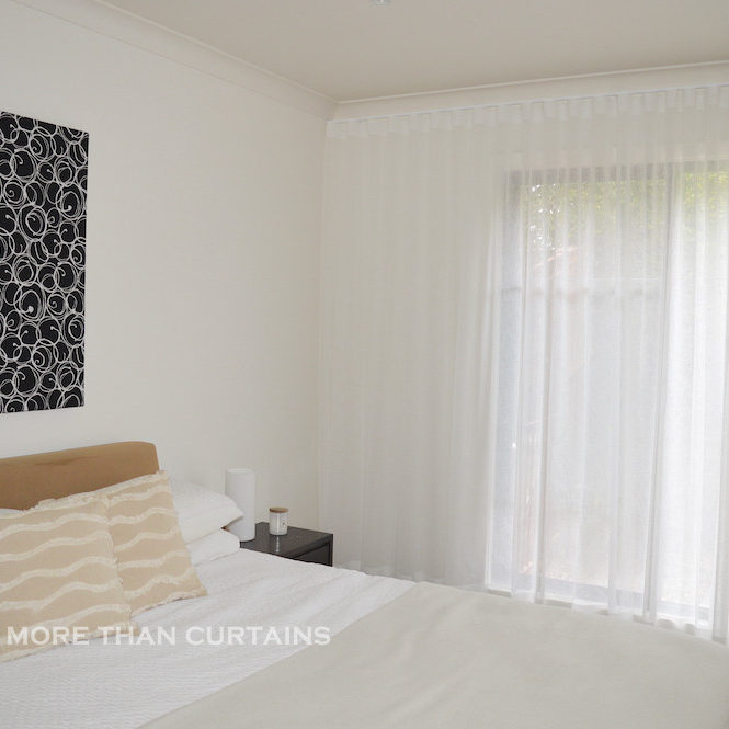 s-fold sheer white curtains