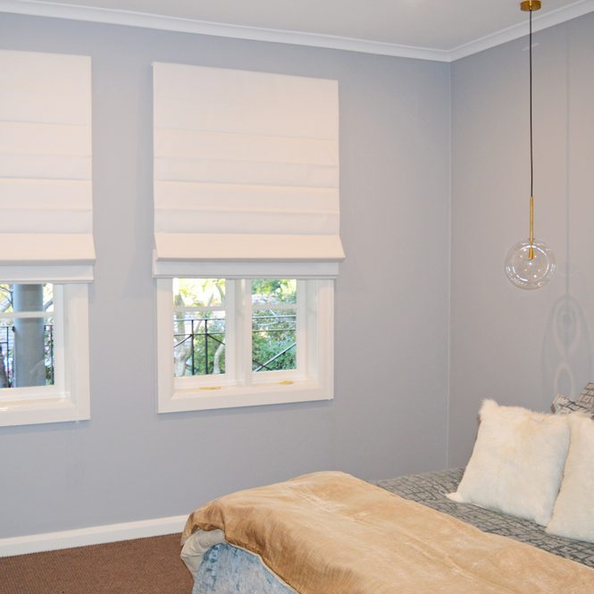 Twin Roman blinds